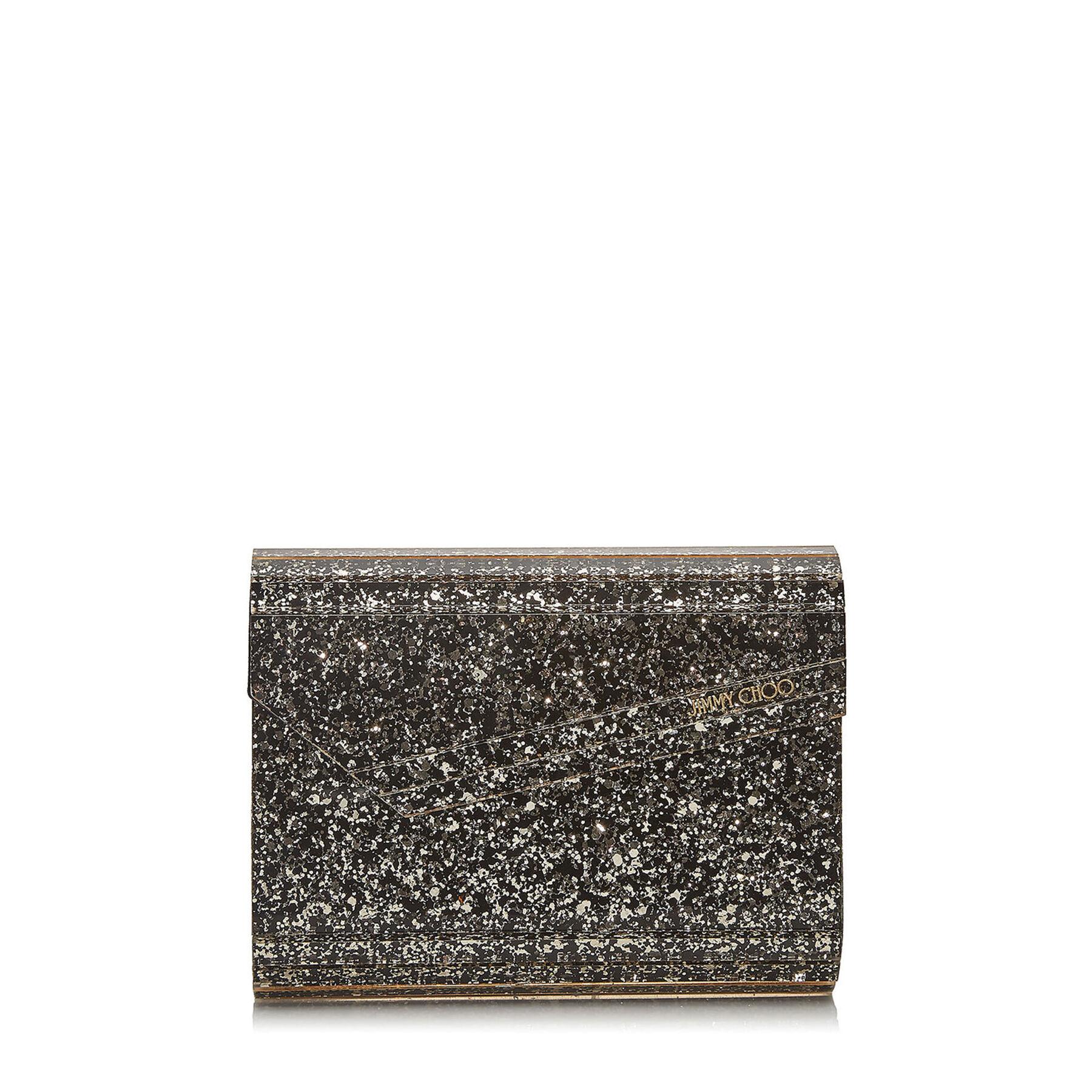 CANDY - Gold Mix Coarse Glitter Acrylic Clutch Bag