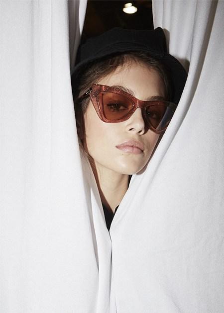 Kaia Gerber wearing Jimmy Choo DONNA sunglasses