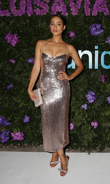 Nathalie Emmanuel wearing THYRA
