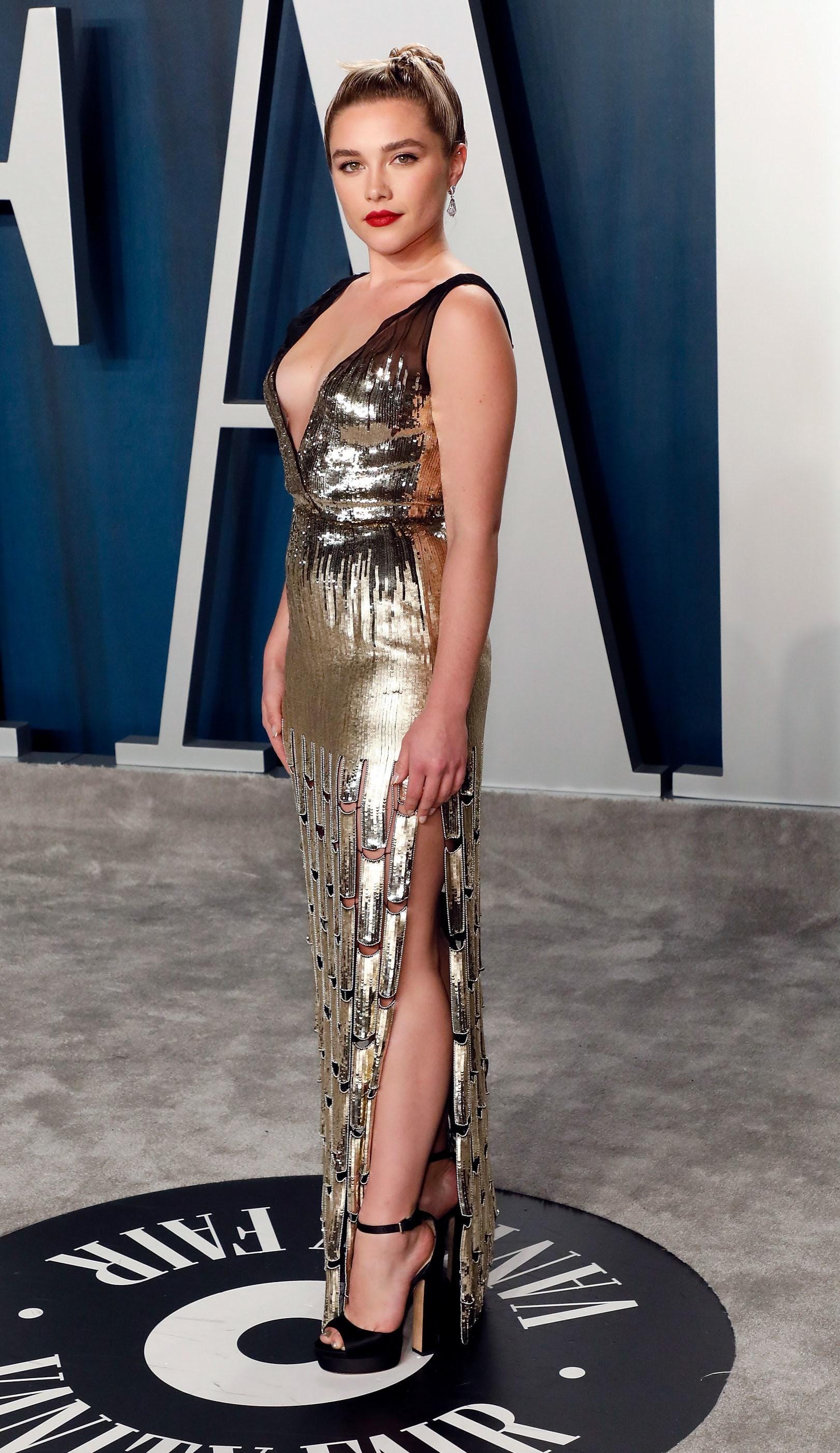 Florence Pugh wearing MAXI