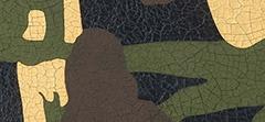 Metallic Camouflage Leather