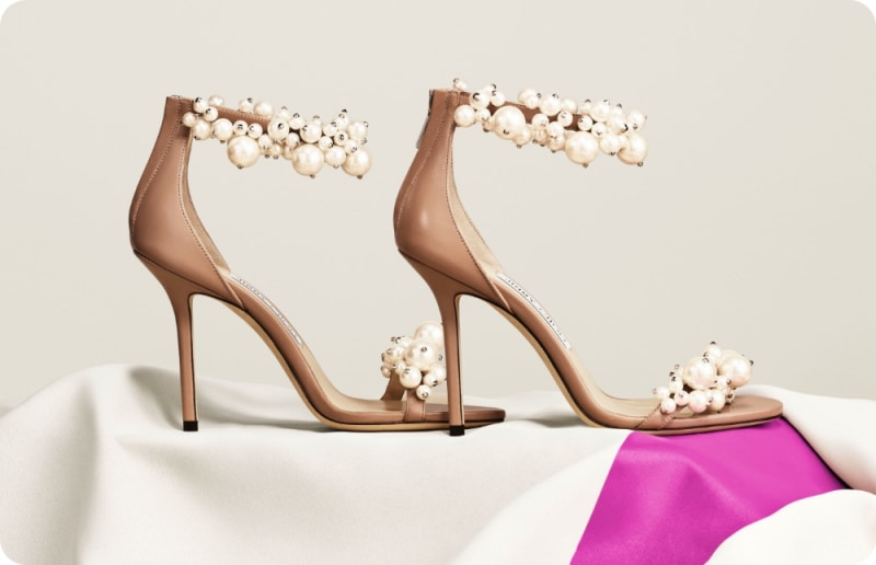 Jimmy Choo women's sandals with pearl embellishment