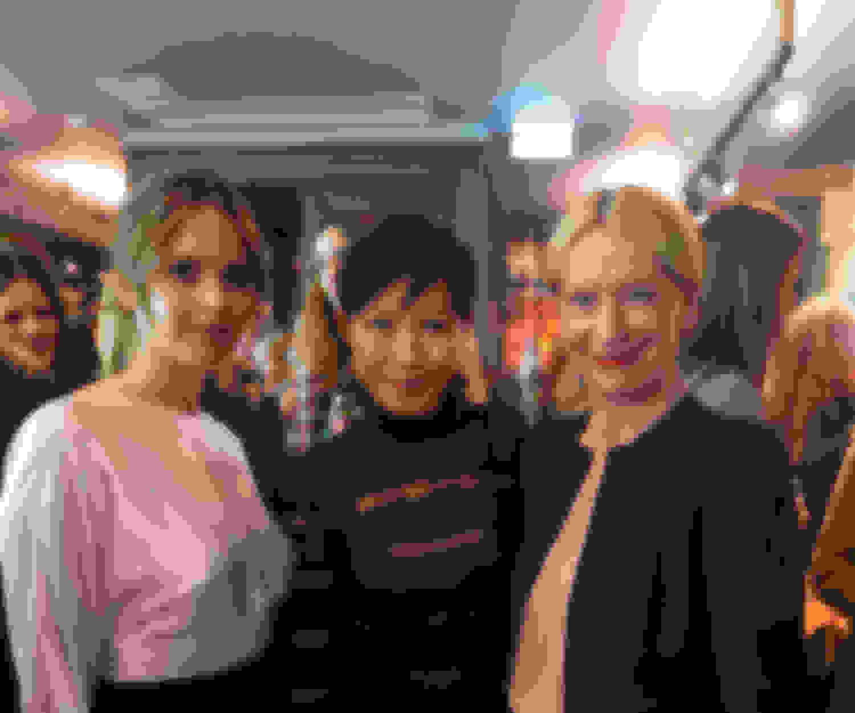 Actor Felicity Jones, Jimmy Choo Creative Director Sandra Choi, Porter magazine Editor-in-Chief Sarah Bailey