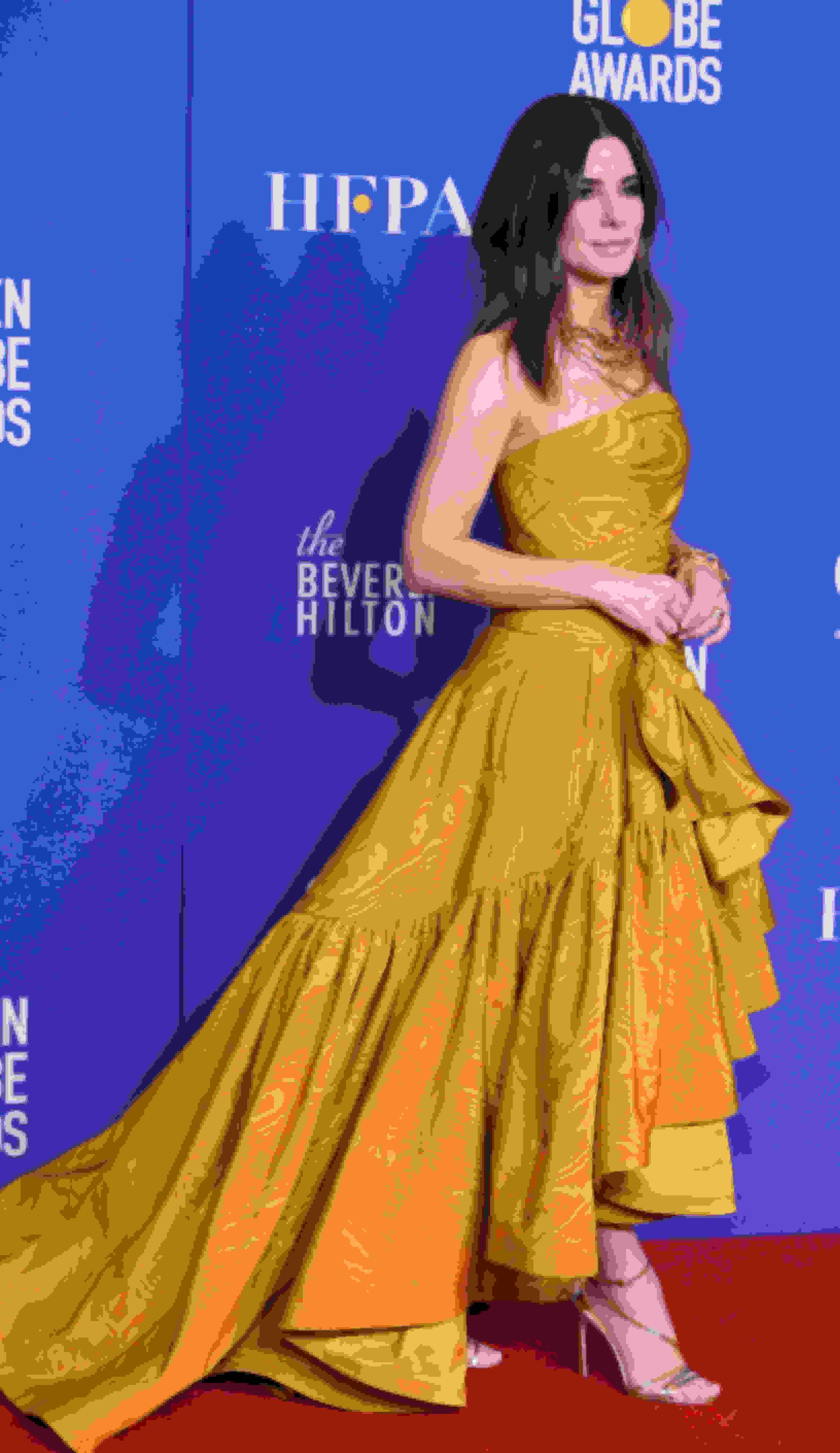 Sandra Bullock wearing Jimmy Choo sandals