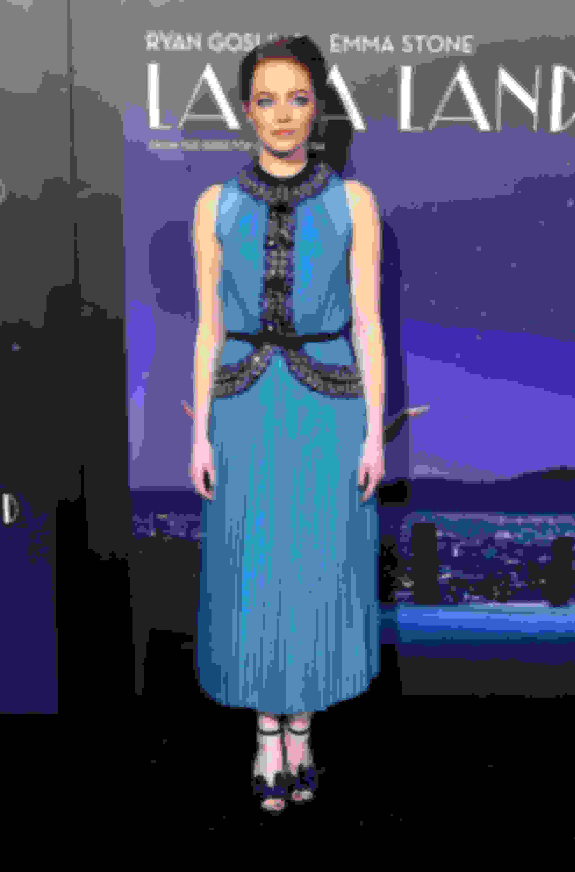 Emma Stone wearing ANNIE