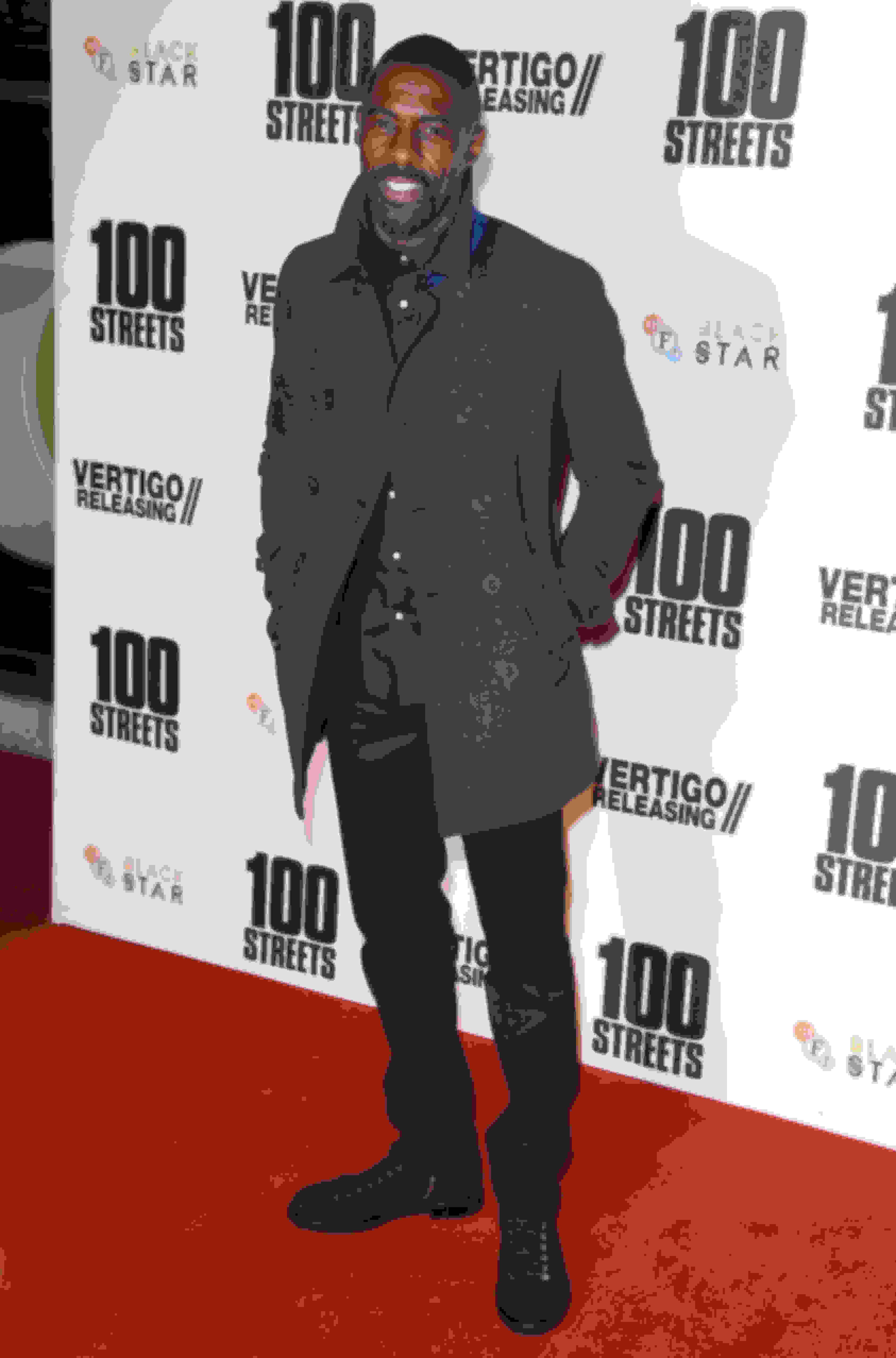 Idris Elba wearing KURT