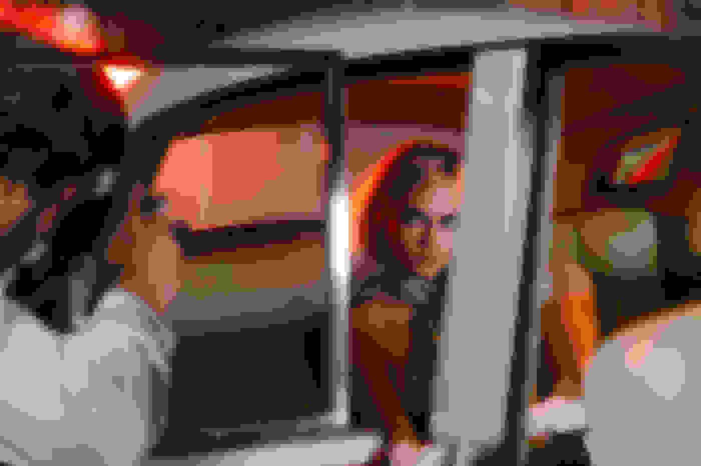 Cara Delevingne in a car
