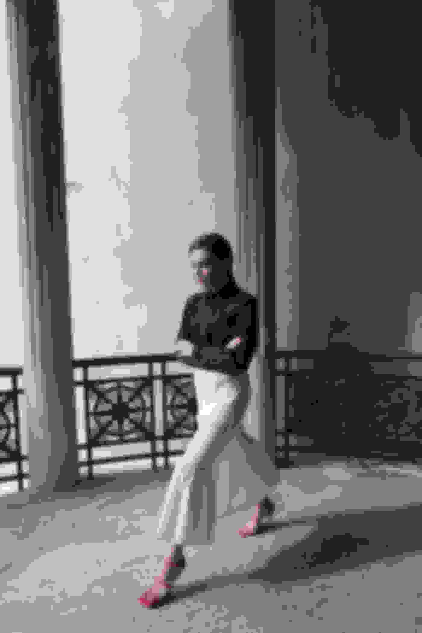 Evangelie Smyrniotaki wearing JANE