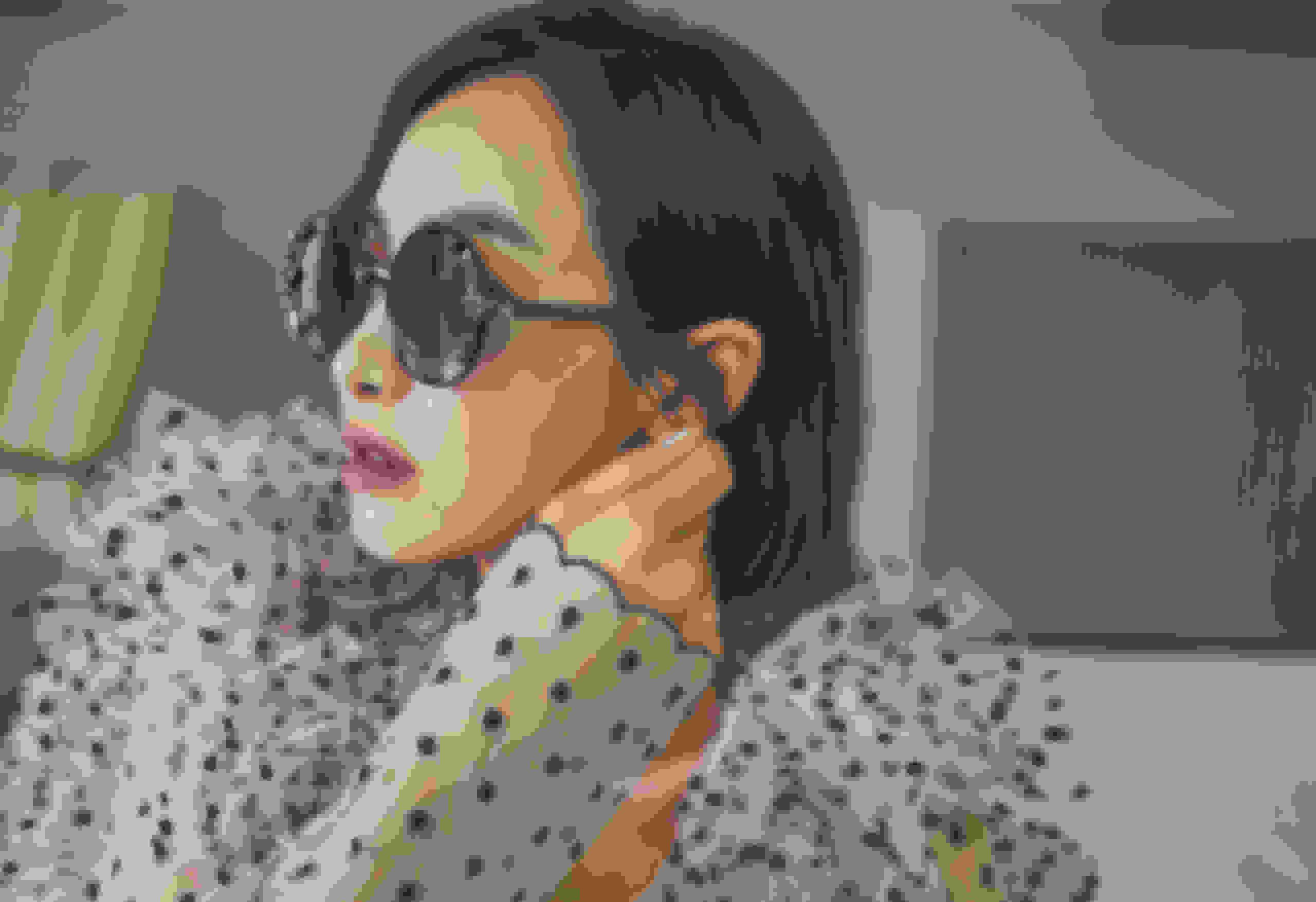 Victoria Song Qian wearing GEMA sunglasses