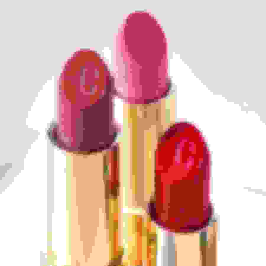 Jimmy Choo women's lipsticks in three shades from the beauty collection