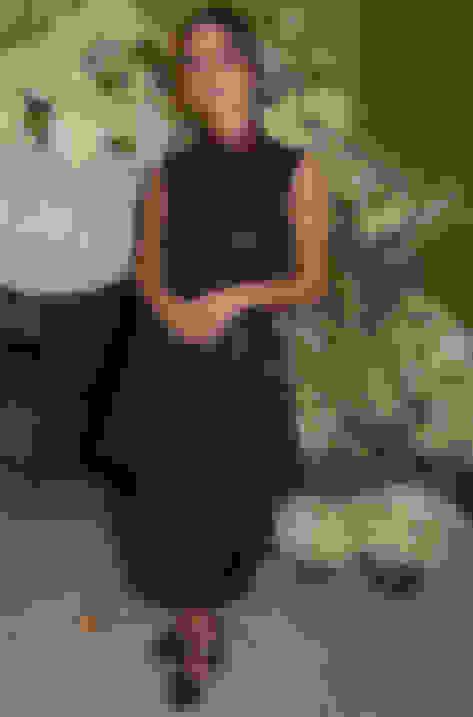 Jenna Coleman wearing SANTINA