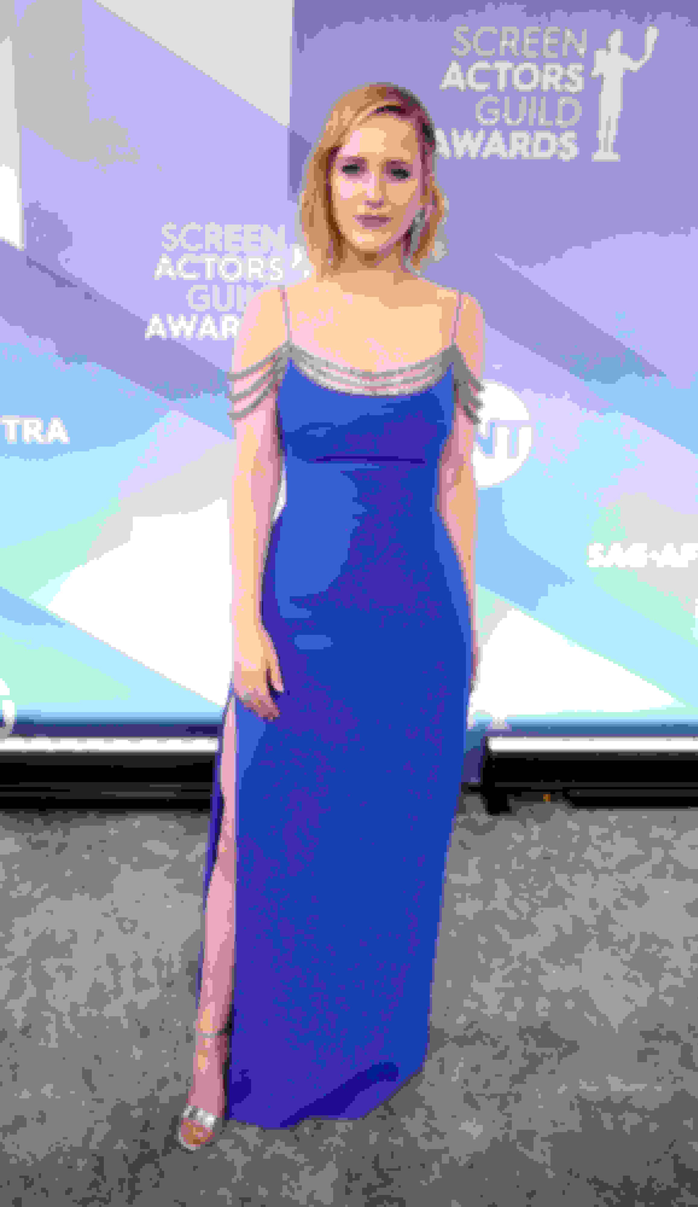 Rachel Brosnahan wearing KAYLEE