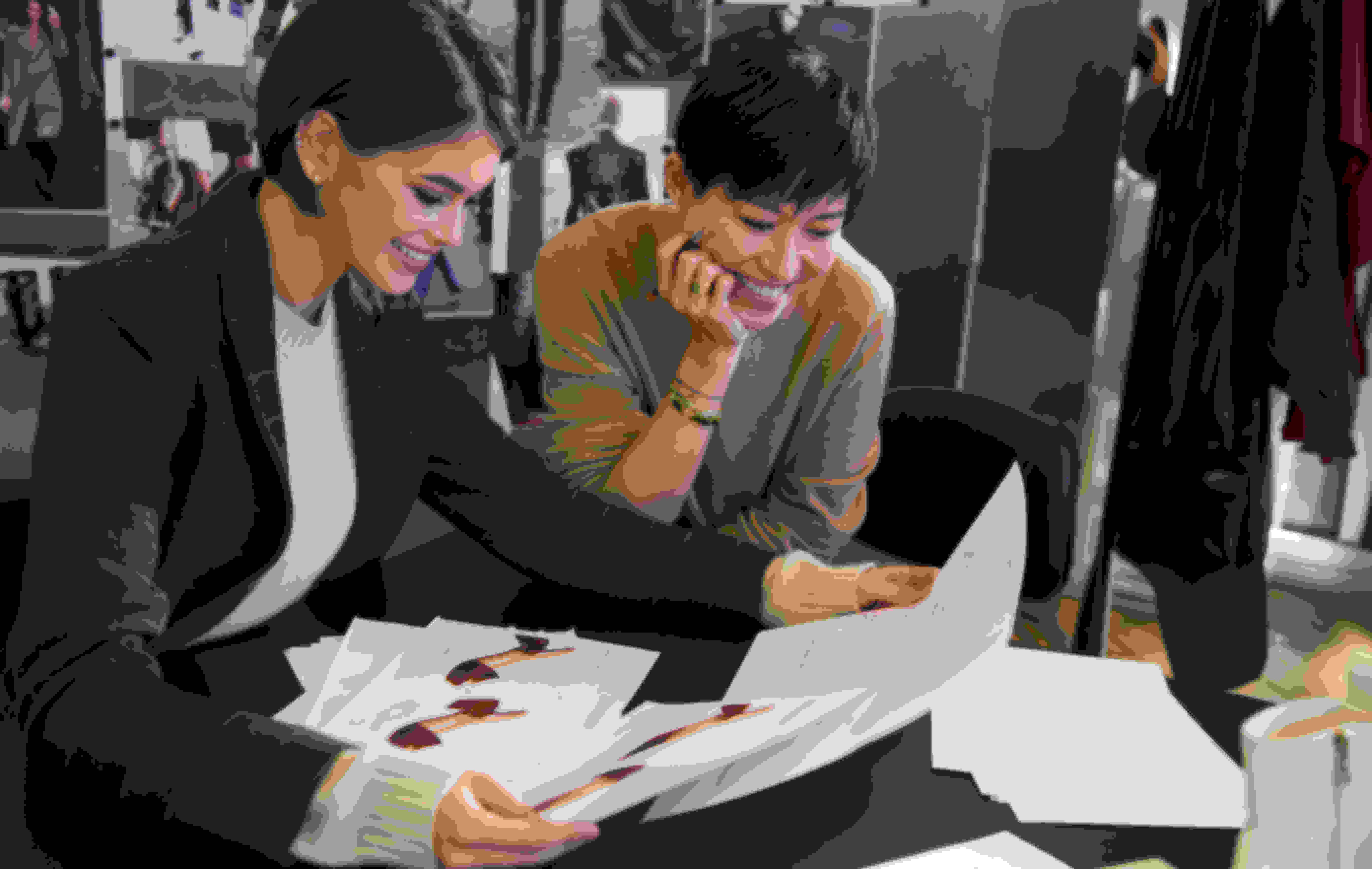 Kaia and Creative Director Sandra Choi at the Design Studio