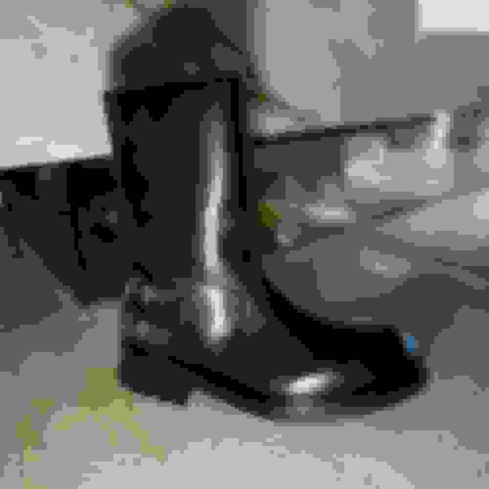 Jimmy Choo men's black leather boots