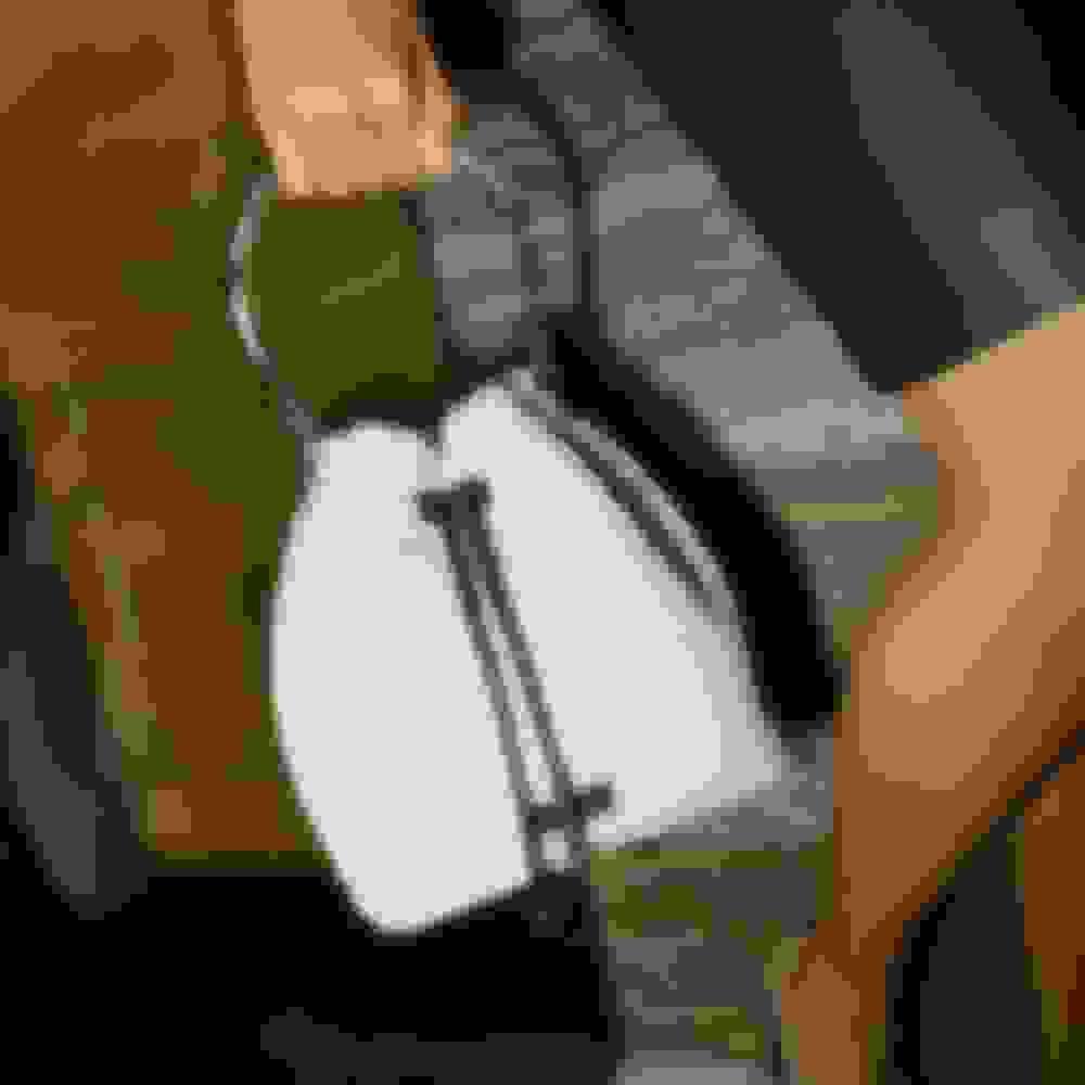Jimmy Choo women's white leather bucket bag
