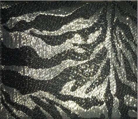 Metallic Zebra Jacquard