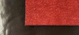 Reverse contrast colour leather